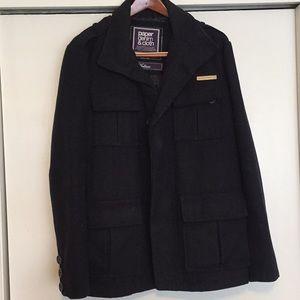 Men's pea coat. Size medium. Navy blue.
